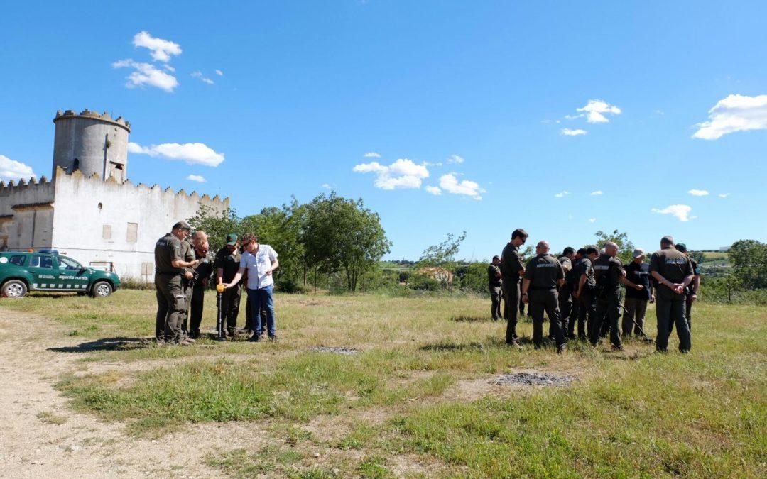 Formación al Cuerpo de Agentes Rurales de Catalunya sobre el uso de los detectores de metales