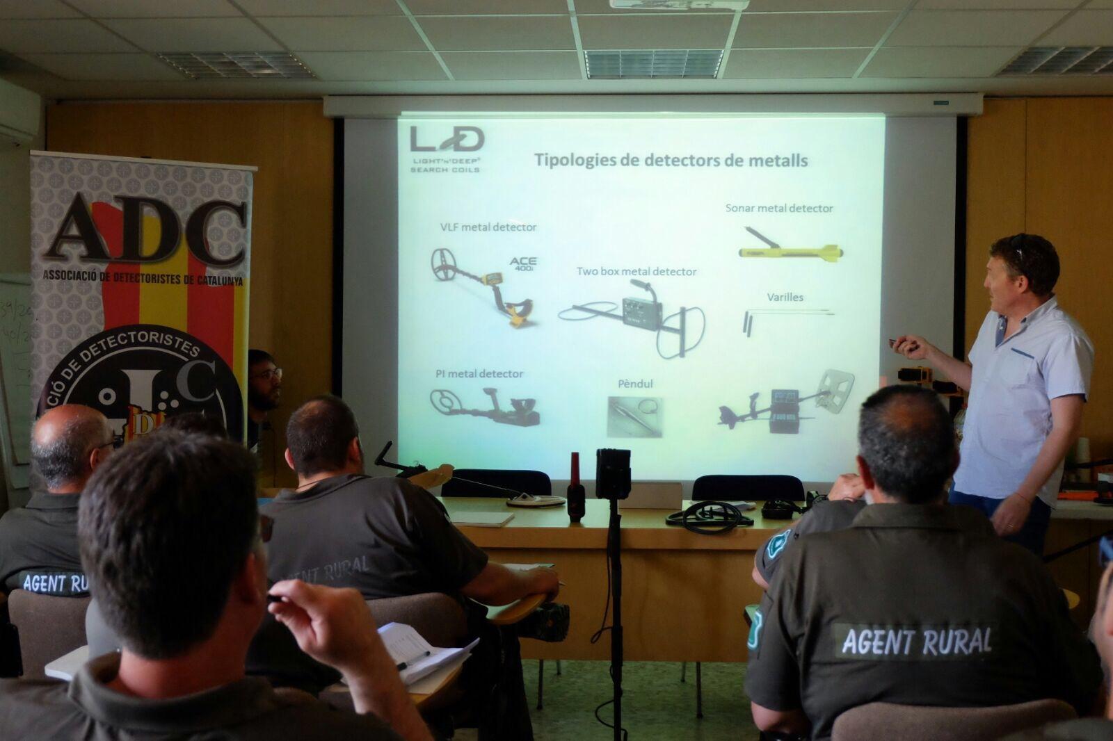 Momentos del Curso, aspectos sobre los diferentes detectores de metales